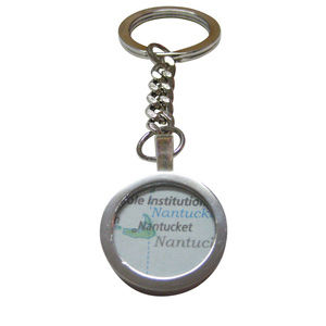 Nantucket Map Pendant Key Chain